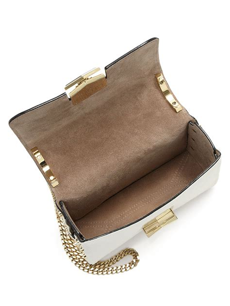 Jimmy Choo Metallic Calfskin Handbag jimmy choo lockett embellished calf hair crossbody bag in
