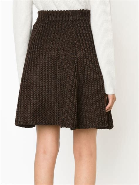 cable knit skirt proenza schouler cable knit a line skirt in brown lyst