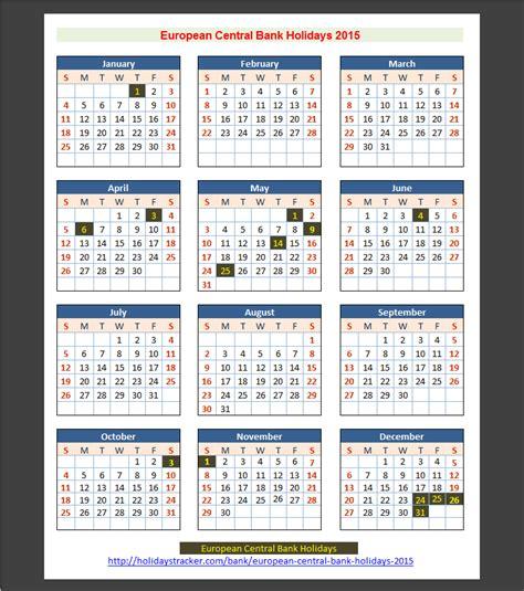 european central bank ecb holidays 2015 holidays tracker