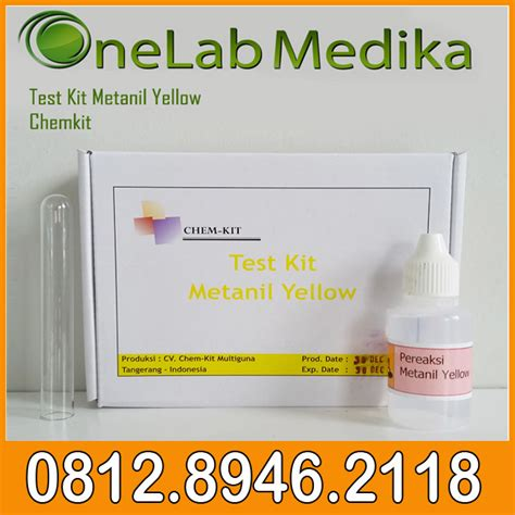 Jual Alat Test Formalin jual test kit metanil yellow chemkit onelab medika