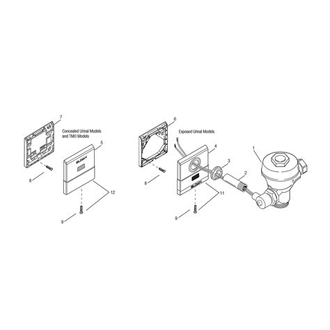 sloan valve parts diagram royal 174 cover mounting plates urinals sloan