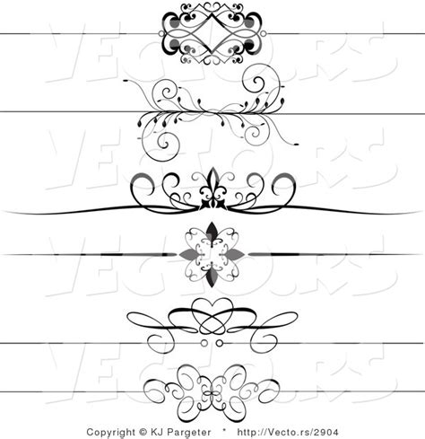header design black and white vector of 6 unique black and white decorative header
