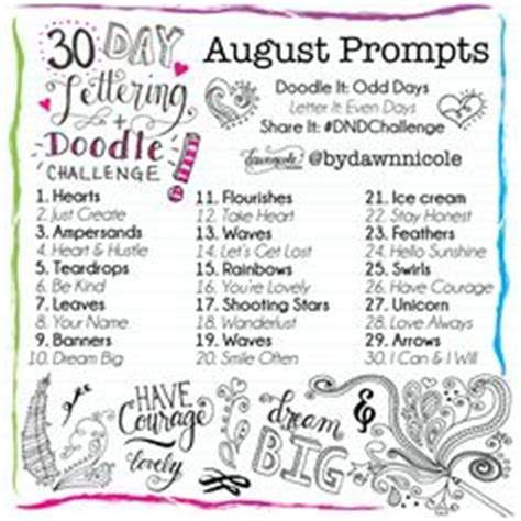 doodle challenge ideas 1000 images about calligraphy prompts on 30