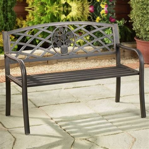 small metal garden bench image gallery outdoor garden benches