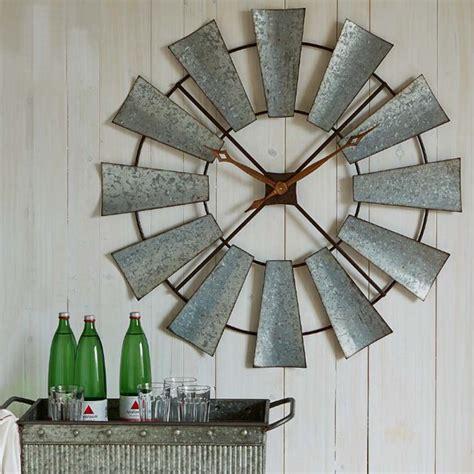wooden decor windmill rustic windmill wall clock 131410
