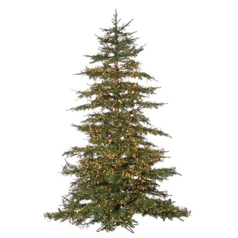 micro light christmas tree sterling 7 5 ft pre lit led natural cut monaco pine