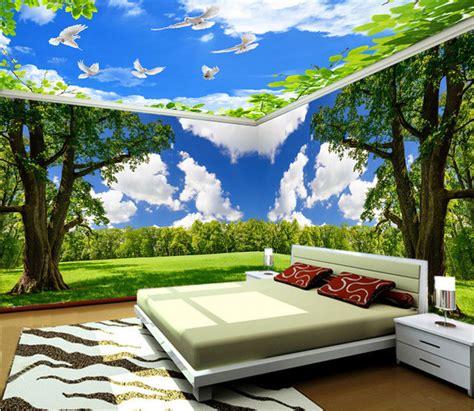 Wallpaper Custom Tema Alam 1 3d dinding mural pemandangan alam wallpaper kustom sesuai dengan dimensi dinding harga per