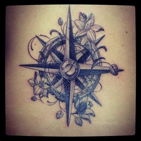 compass tattoo with flowers girly compass tattoo compass tattoo i love it cool tats