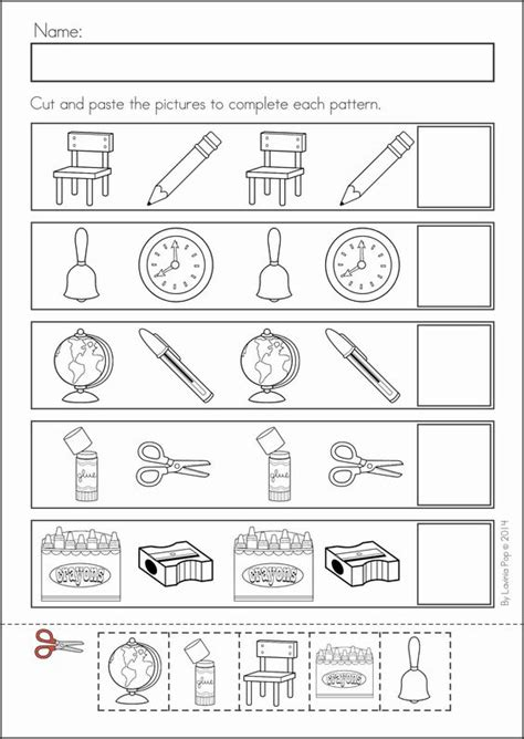 ab pattern worksheets for kindergarten patterns haus and literacy on pinterest