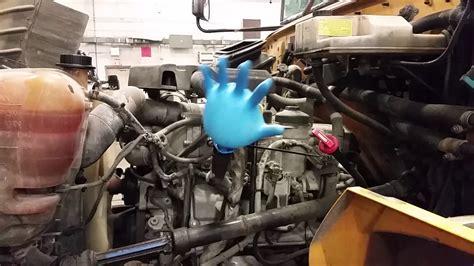 bad international maxxforce  excessive crankcase pressure blows thick glove fun test youtube