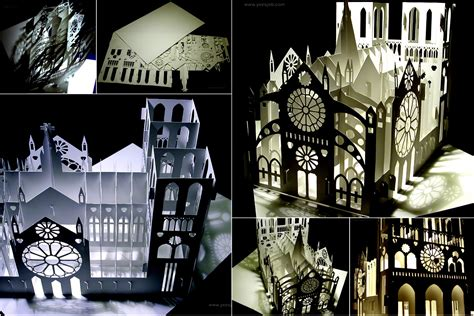 Affordable Kitchen Ideas by Notre Dame Cathedral 180 Degrees Open Pop Up Diy Kirigami