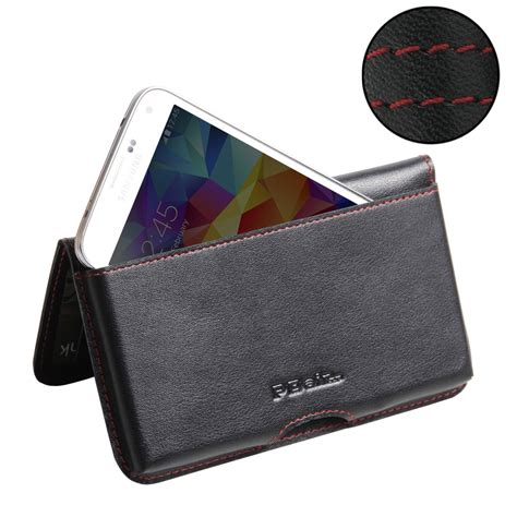 Primary Pouch Samsung S5 Brown samsung galaxy s5 leather wallet pouch stitch