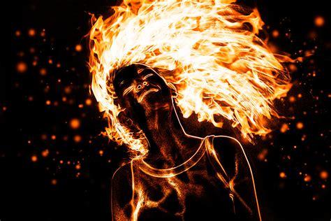 imagenes de love con fuego mujer de fuego con photoshop solo photoshop