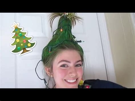christmas tree hair do tree hair tutorial