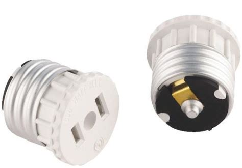 2 Prong Light Bulb Adapter by Leviton 875125w Medium Base Socket 2 Prong Oulet Adapter