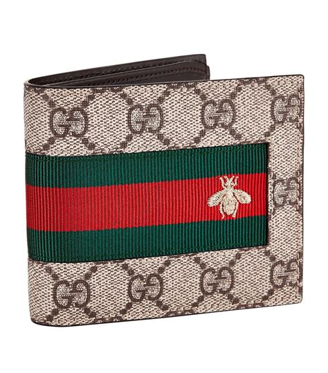 guess d3cm gucci gg supreme bee bifold wallet in for lyst