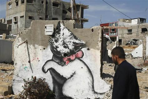 Wall Mural Disney internet cats banksy kitten highlights gaza s plight