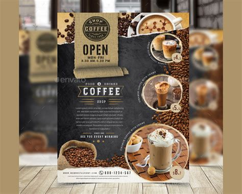 23 Coffee Shop Flyer Templates Free And Premium Designyep Coffee Shop Template