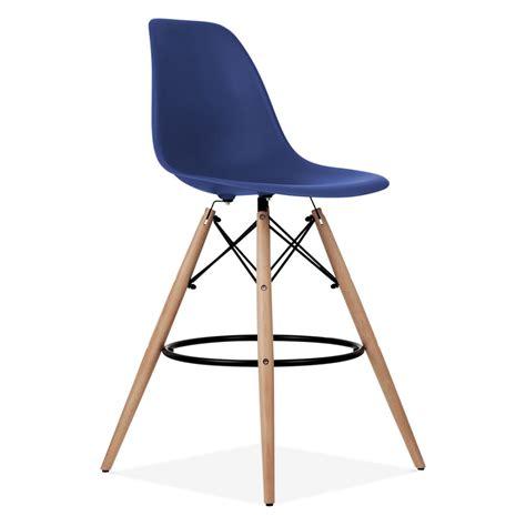 blue bar stools uk navy blue eames style dsw stool kitchen bar stools