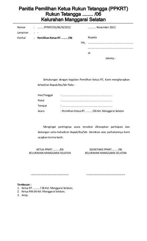 Contoh Berita Acara Pertemuan Warga by Form Pemilihan Ketua Rt