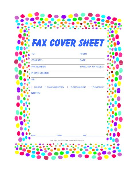 free printable fax cover sheet templates free printable fax cover sheets free printable fax cover