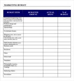 Marketing Budget Template by Free Marketing Budget Templates Sle Marketing Budget