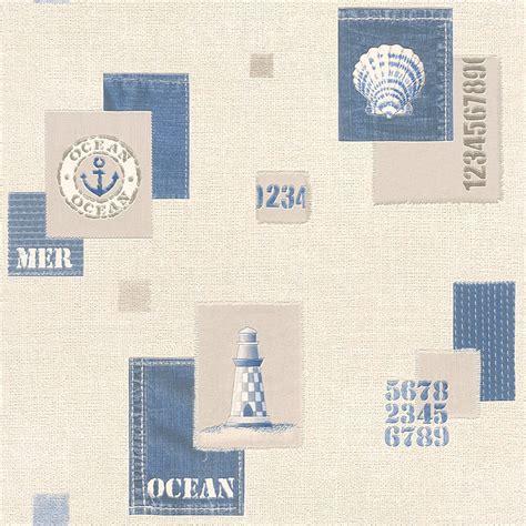 cut price bathrooms rasch aqua nautical bathroom wallpaper 853209 blue cut price wallpaper crewe