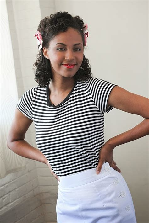 forties and black hair natural curly hair bobby pin blog vintage hair and