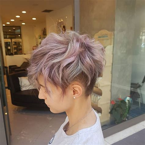care of a choppy pixie cut short choppy pixie with undercut and beautiful pastel