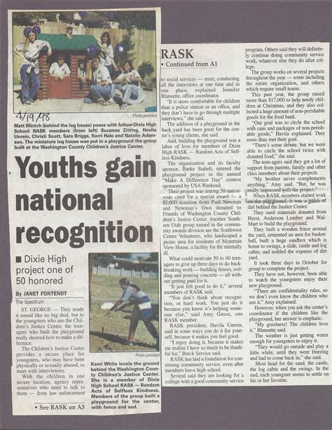 newspaper layout history history newspaper articles2 washington county children s