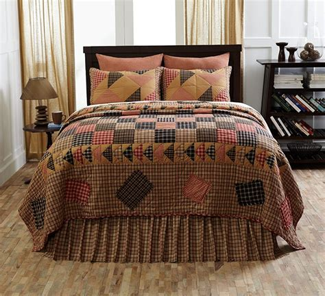 rustic quilt bedding homestead rustic primitive country plaid 4pc quilt