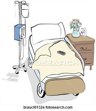fotosearch clipart hospital patient clip hospital bed fotosearch