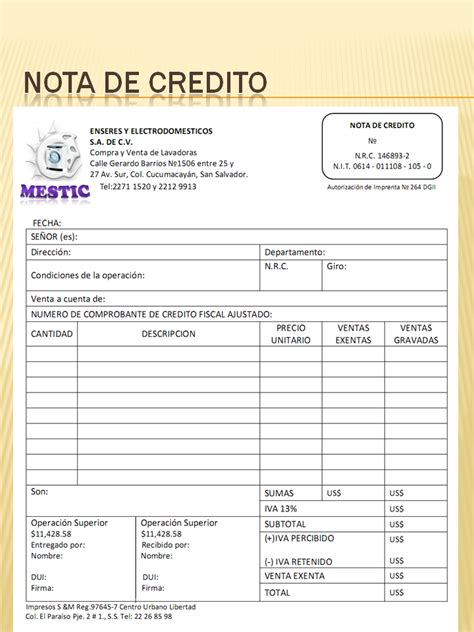 factura nota de cargo nota de credito recibo de asisstente administrativo contabilidad