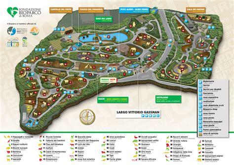 roma giardino zoologico bioparco la mappa