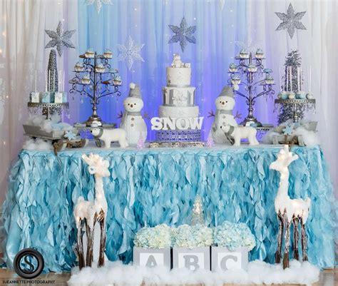 winter wonderland theme baby shower party ideas