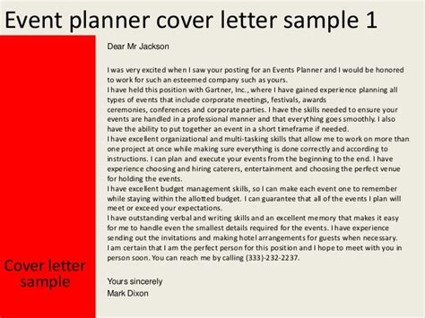 cover letter for event planner event planner cover letter
