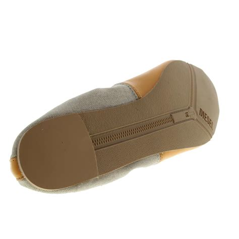diesel flat shoes diesel 8381 womens pointy tippy orange leather