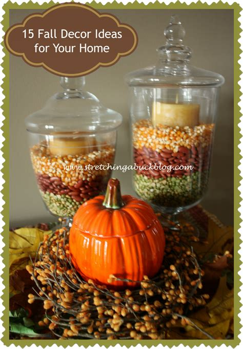 Home Decor Fall by 15 Fall Decor Ideas For Your Home Stretching A Buck