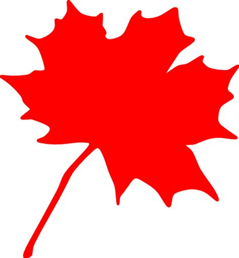 Canada Maple Leaf Outline by Maple Leaf Clip At Clker Vector Clip Royalty Free Domain