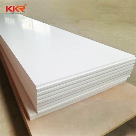 6mm corian 6mm blanc neige corian acrylique surface solide pour le