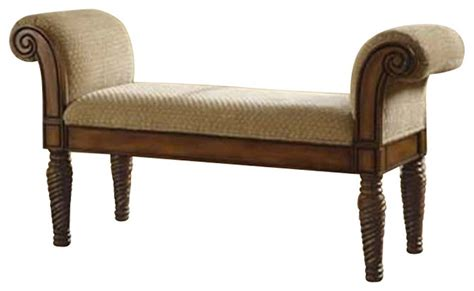 bedroom bench with arms coaster upholstered bench with rolled arms transitional upholstered benches