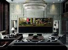 Image result for largest TV. Size: 220 x 160. Source: www.theverge.com