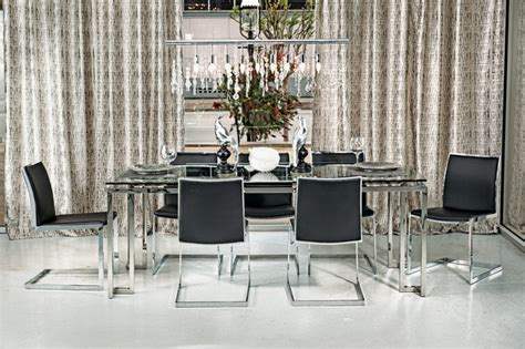 Tessa Dining Table Tessa Dining Table Mono Chrome Modern Dining Room By High Fashion Home