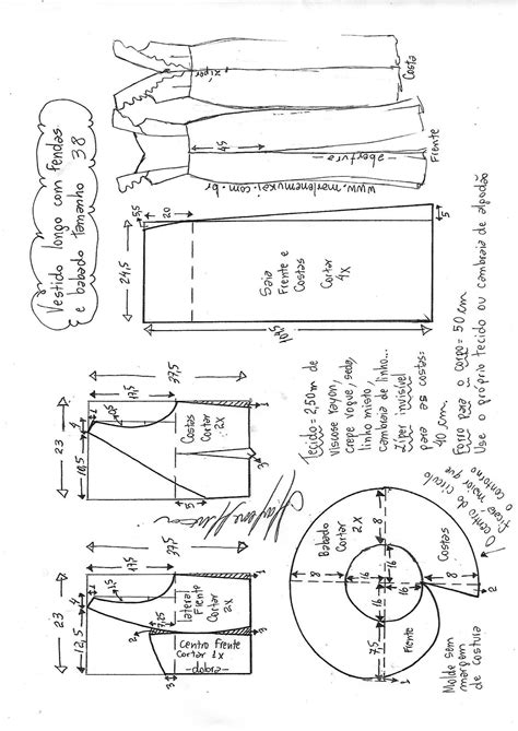 Vestido longo com fenda e babado no decote | Valdimira
