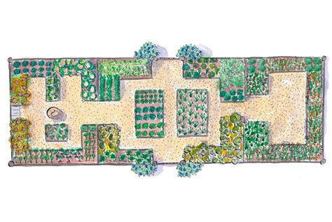 16 Free Garden Plans Garden Design Ideas Garden Plot Layout