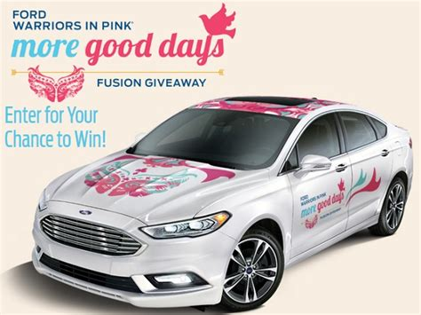 Warriors In Pink Sweepstakes - ford warriors in pink more good days sweepstakes sweepstakesbible