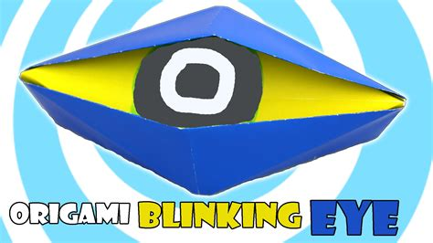 origami blinking eye origami diy how to make blinking eye origami jk arts