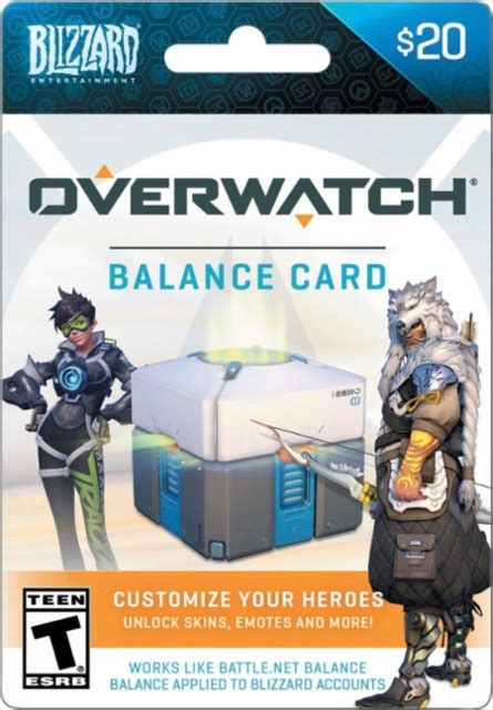 Can You Buy Overwatch With Battle Net Gift Cards - blizzard 20 overwatch balance card multi overwatch blizzard balance 20 best buy