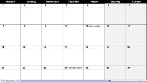 big template big blank calendar blank calendar printable