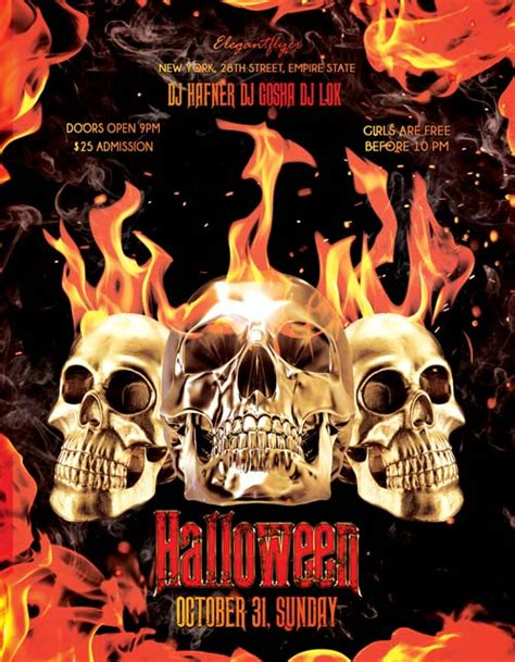template photoshop halloween halloween psd flyer template download for photoshop